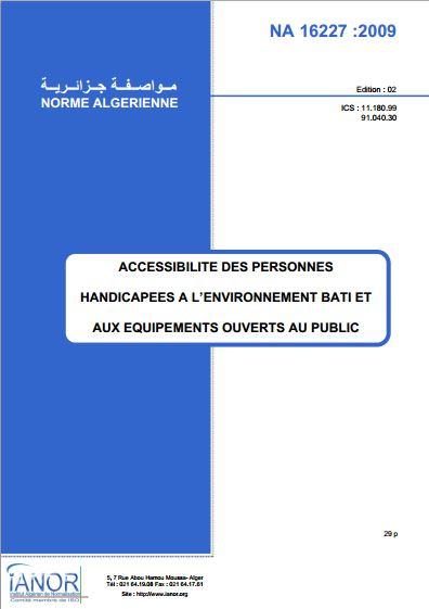 Norme Algerienne d'Accessibilité